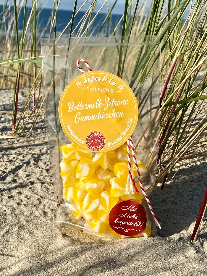 Bottermelk-Zitrone Gummibärchen