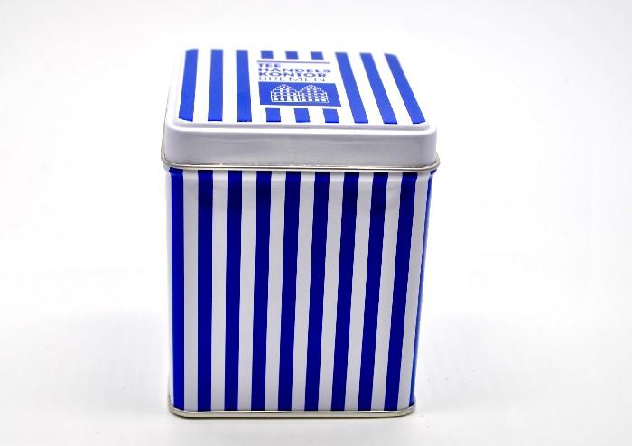 Teedose blau-weiß