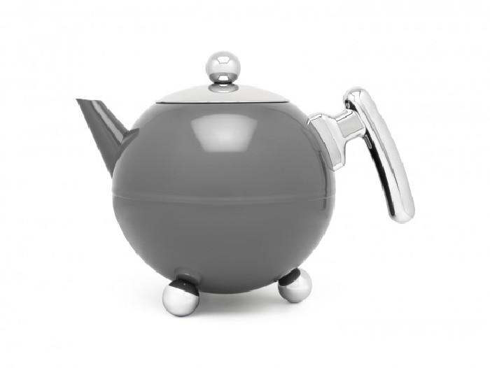 Teekanne Duet® Bella Ronde 1,2L, dunkelgrau