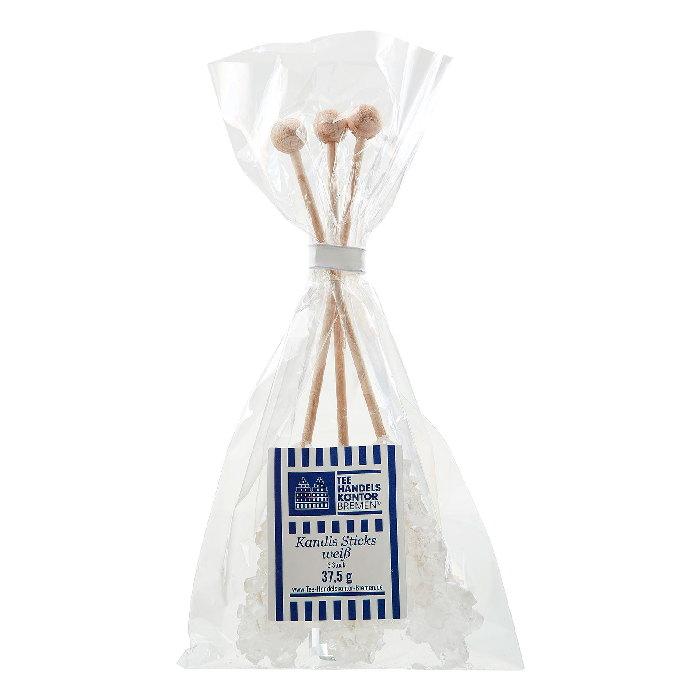 Weiße Kandis-Sticks